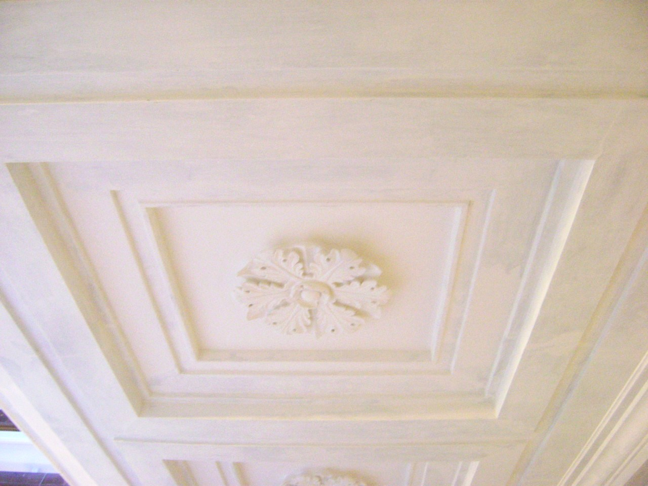 example of recently repaired historic plaster ceiling from the durable restoration company