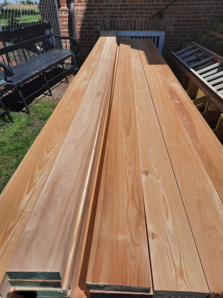 Cypress for decking on front portico that Durable will put down
